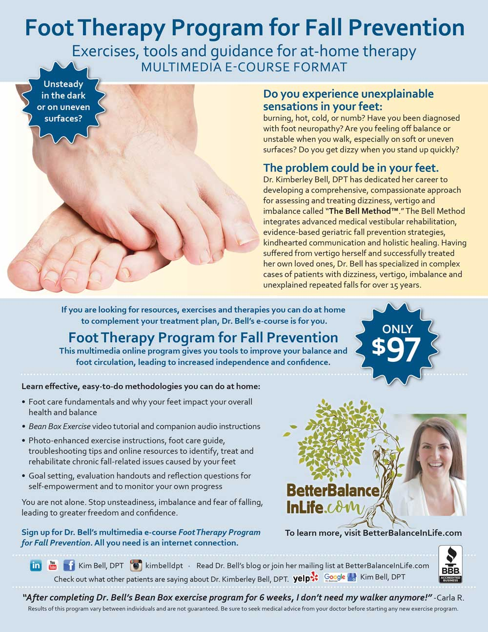 Dr. Bell's Foot Therapy Program for Fall Prevention