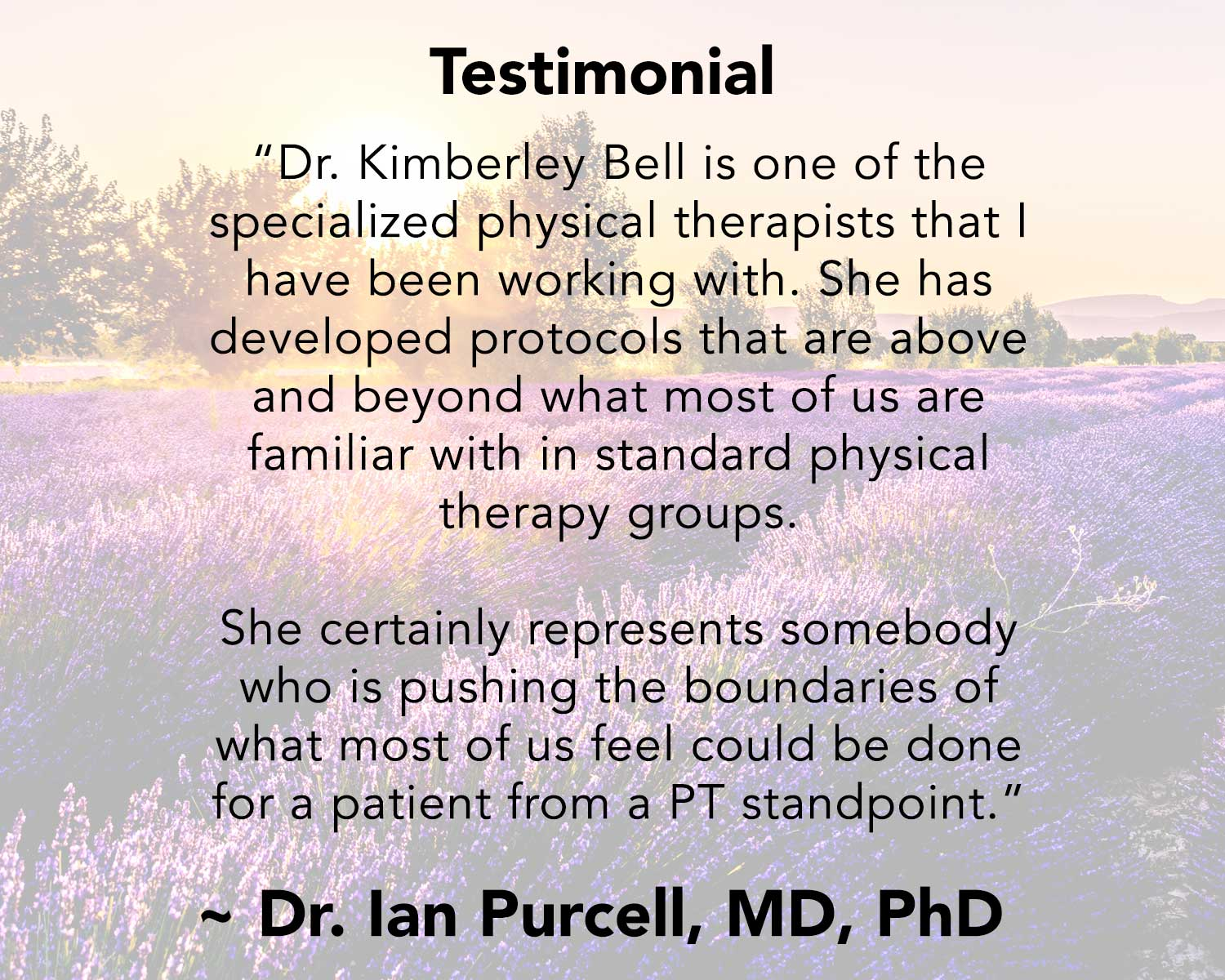 Suffering from Vertigo? Ian Purcell Testimonial