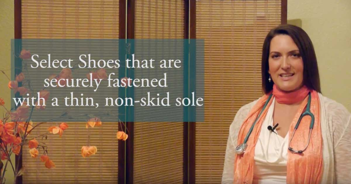 Footwear to reduce falling video - Dr. Kim Bell, DPT - San Diego Vertigo Doctor